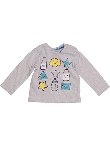 Camiseta de manga larga niño F&F blanco 9 meses invierno #1305502_1