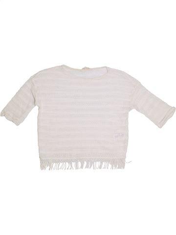 Pull fille H&M blanc 12 ans été #1305528_1