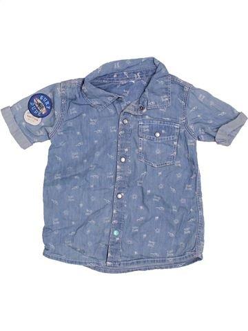 Chemise manches courtes garçon F&F bleu 2 ans été #1305653_1