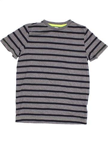 T-shirt manches courtes garçon F&F gris 11 ans été #1305699_1
