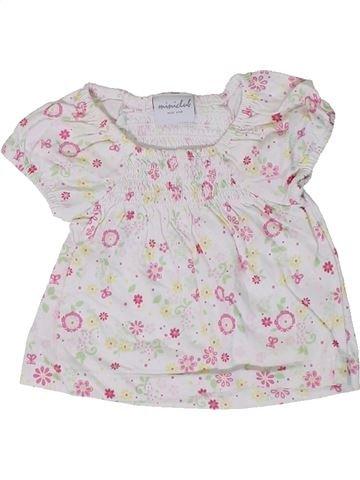 T-shirt manches courtes fille MINI CLUB blanc naissance été #1305807_1