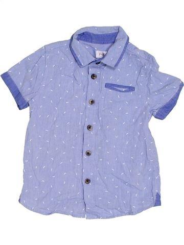 Chemise manches courtes garçon F&F violet 4 ans été #1306183_1