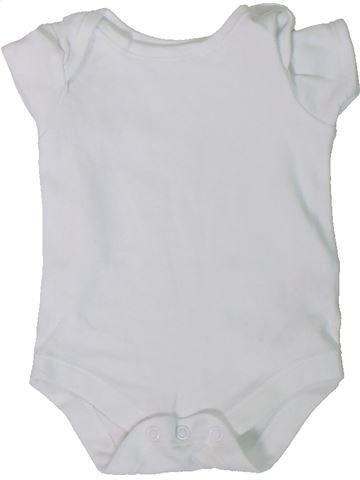T-shirt manches courtes unisexe JOHN LEWIS blanc 1 mois été #1306300_1