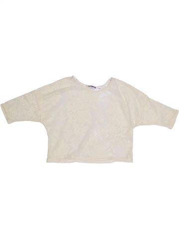 T-shirt manches longues fille NEW LOOK blanc 11 ans été #1306403_1