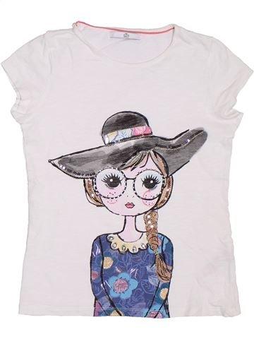 T-shirt manches courtes fille MARKS & SPENCER blanc 11 ans été #1306421_1