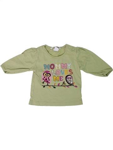 T-shirt manches longues fille H&M vert 3 mois hiver #1306572_1