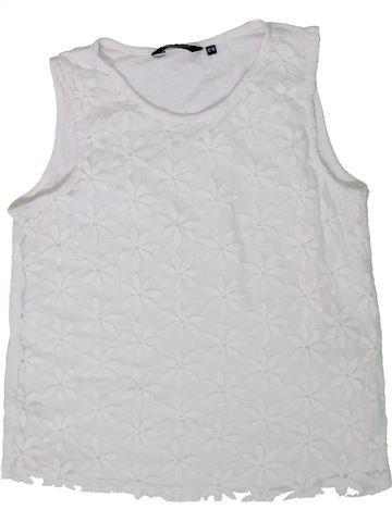 T-shirt sans manches fille NEW LOOK blanc 13 ans été #1306618_1