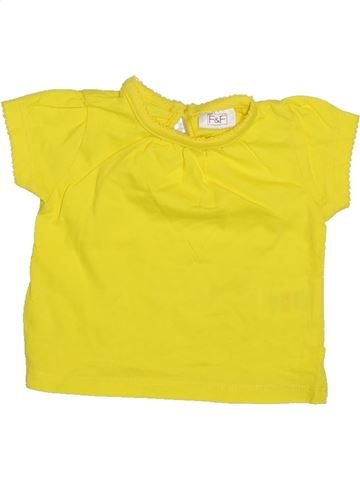 T-shirt manches courtes fille F&F jaune 3 mois été #1306630_1