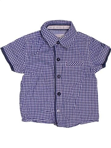 Chemise manches courtes garçon DEBENHAMS violet 18 mois été #1306658_1