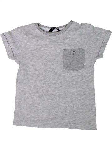 T-shirt manches courtes garçon GEORGE gris 5 ans été #1306676_1