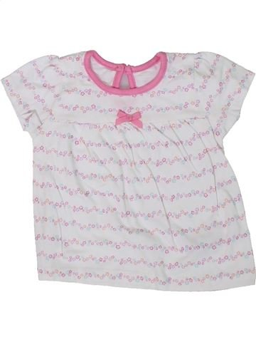 T-shirt manches courtes fille GEORGE blanc 3 mois été #1306789_1