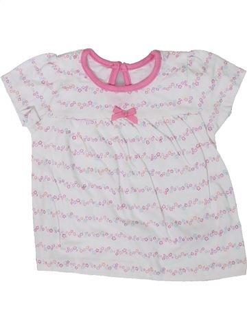 Camiseta de manga corta niña GEORGE blanco 3 meses verano #1306789_1