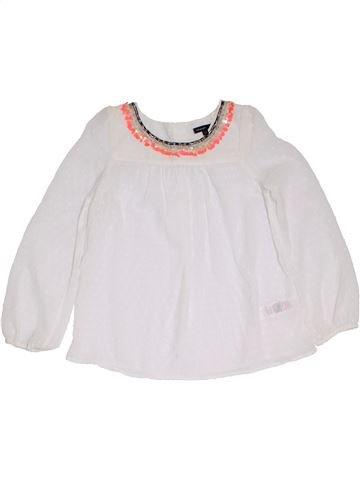 Blusa de manga larga niña MARKS & SPENCER blanco 9 años verano #1306912_1