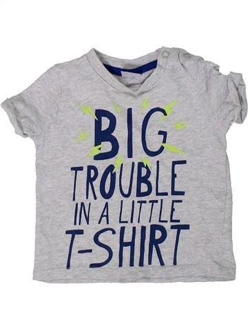 Camiseta de manga corta niño F&F gris 6 meses verano #1307124_1