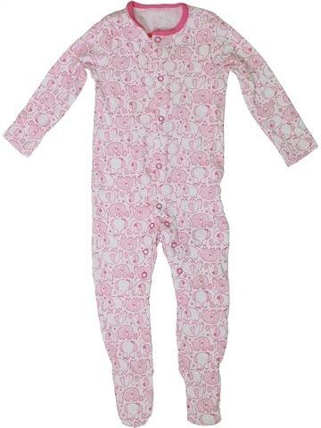 Pijama de 1 pieza niña F&F rosa 9 meses verano #1307146_1