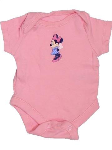 T-shirt manches courtes fille DISNEY rose naissance été #1307220_1