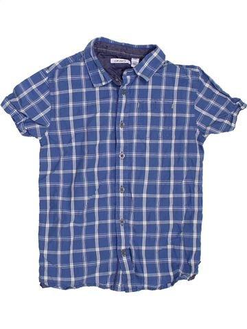 Chemise manches courtes garçon OKAIDI bleu 8 ans été #1307273_1