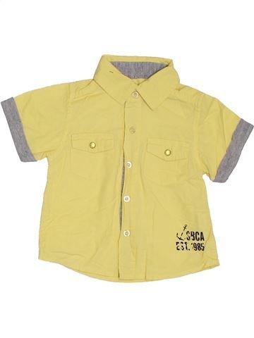 Chemise manches courtes garçon PRIMARK jaune 9 mois été #1307633_1