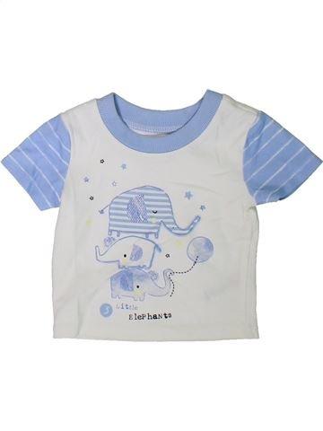 T-shirt manches courtes garçon GEORGE blanc 3 mois été #1307707_1