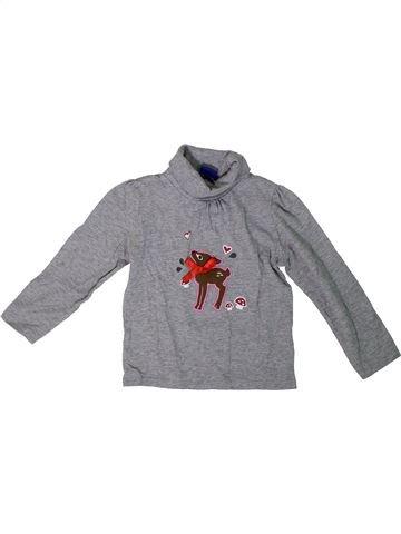 Camiseta de cuello alto niña LUPILU gris 4 años invierno #1307752_1