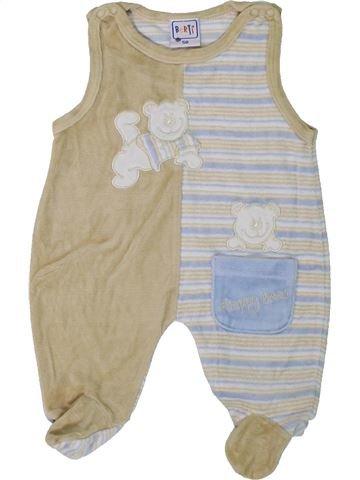 Pijama de 1 pieza niño BERTI gris 1 mes invierno #1307976_1