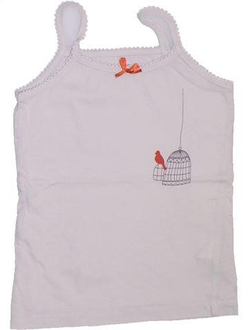 Camiseta sin mangas niña VERTBAUDET blanco 4 años verano #1308003_1