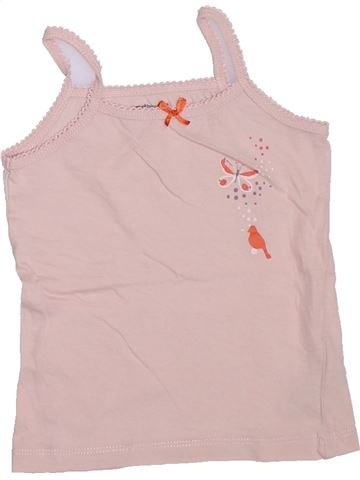 Camiseta sin mangas niña VERTBAUDET rosa 4 años verano #1308004_1