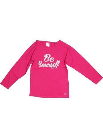Camiseta de manga larga niña OXYLANE rosa 5 años invierno #1308026_1