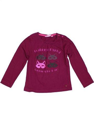 Camiseta de manga larga niña KIABI violeta 5 años invierno #1308118_1