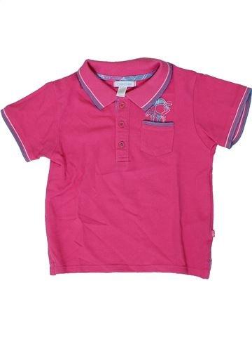 Polo de manga corta niño OKAIDI rosa 2 años verano #1308180_1
