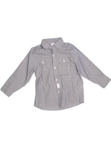 Camisa de manga larga niño VERTBAUDET gris 5 años invierno #1308274_1