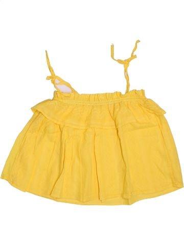 Blouse manches courtes fille MONOPRIX jaune 8 ans été #1308289_1