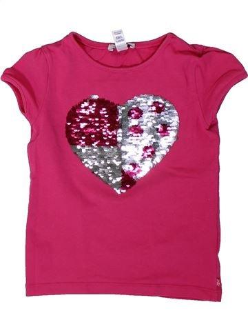 Camiseta de manga corta niña OKAIDI rosa 5 años verano #1308424_1