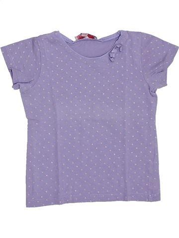 T-shirt manches courtes fille LISA ROSE violet 3 ans été #1308440_1