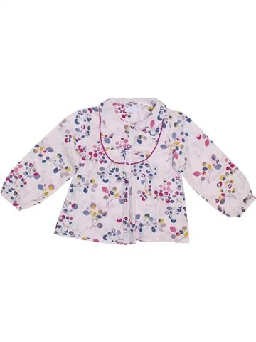 Blusa de manga larga niña OKAIDI blanco 3 años invierno #1308484_1