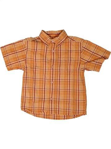 Chemise manches courtes garçon BEST WAY orange 3 ans été #1308486_1