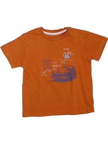 Camiseta de manga corta niño VERTBAUDET marrón 3 años verano #1308565_1