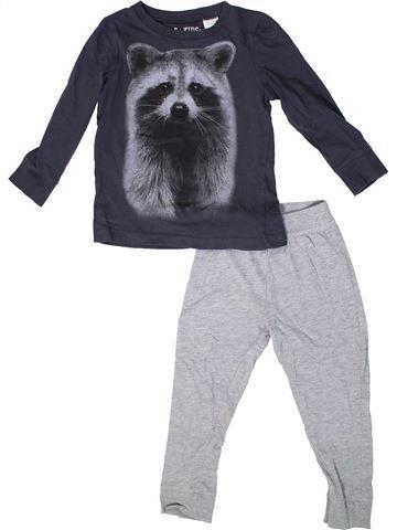 Pijama de 2 piezas niño LA REDOUTE CRÉATION azul 3 años invierno #1308586_1