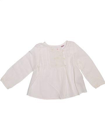 Blusa de manga larga niña ZARA blanco 2 años invierno #1308767_1