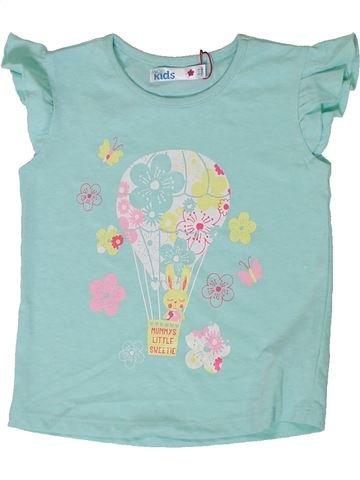 T-shirt manches courtes fille M&CO bleu 3 ans été #1308972_1
