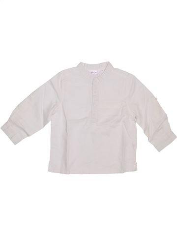 Camisa de manga larga niño KIABI blanco 3 años invierno #1309055_1