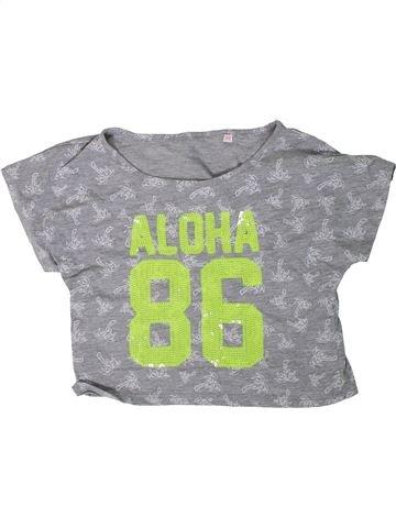 T-shirt manches courtes fille BLUEZOO gris 12 ans été #1309386_1