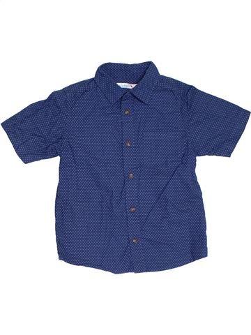 Chemise manches courtes garçon M&CO bleu 7 ans été #1309794_1