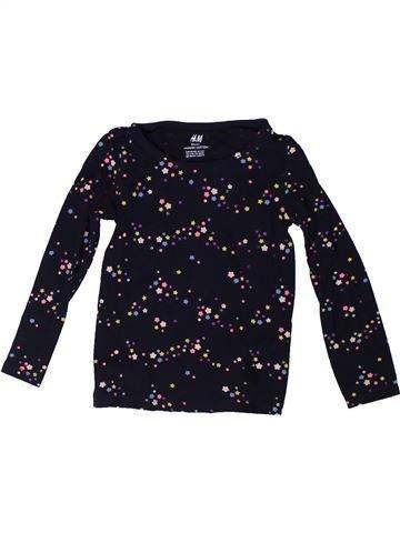 Camiseta de manga larga niña H&M negro 4 años invierno #1309840_1