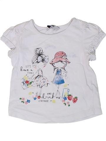 Camiseta de manga corta niña GEORGE blanco 18 meses verano #1310285_1