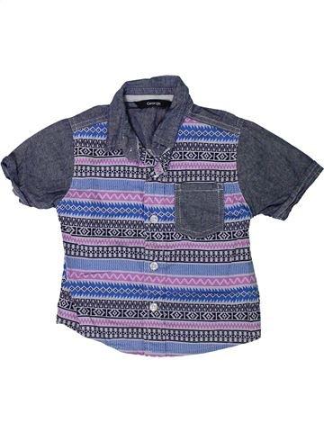 Camisa de manga corta niño GEORGE azul 12 meses verano #1310535_1