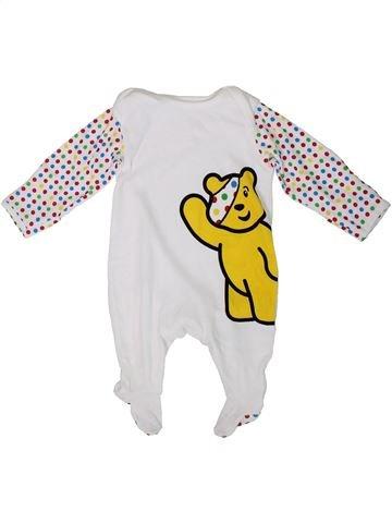 Pijama de 1 pieza niño GEORGE blanco 0 meses verano #1310578_1