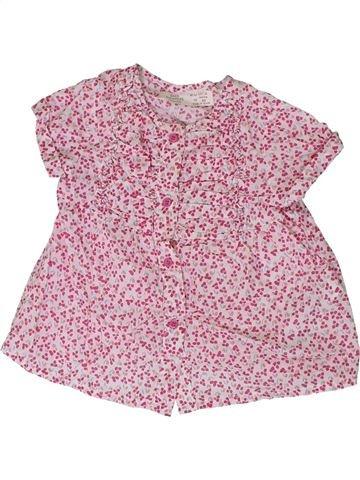 Blusa de manga corta niña ZARA rosa 18 meses verano #1310608_1