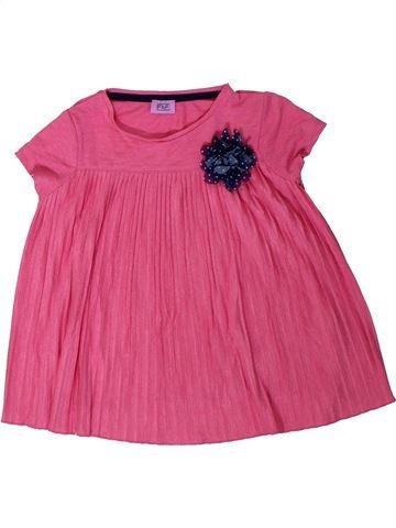 Camiseta de manga corta niña F&F rosa 5 años verano #1310727_1