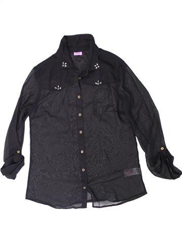 Blusa de manga larga niña F&F negro 13 años invierno #1311378_1
